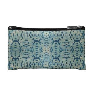Bolso cosmético de madera de Cyanotype del vintage