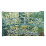 Bolso cosmético de Monet del puente japonés o