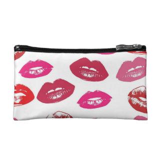 Bolso cosmético del maquillaje de los labios