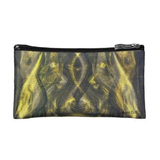 Bolso cosmético del oro y de las sombras, mujeres,