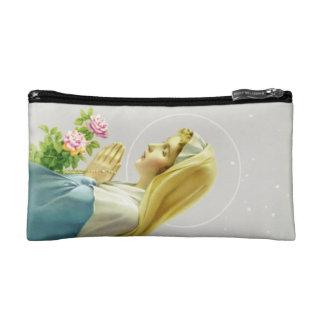 Bolso cosmético del rezo del Virgen María pequeño
