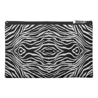Bolso cosmético grande de la cebra blanco y negro