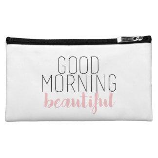 Bolso cosmético hermoso de la buena mañana