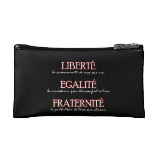 Bolso cosmético: Liberté, Egalité, Fraternité