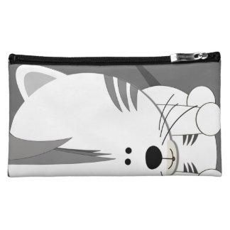 Bolso cosmético medio blanco de Cub de tigre