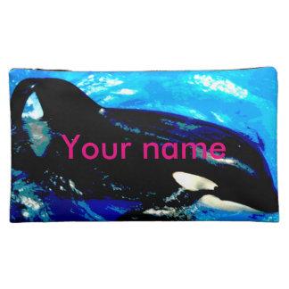 bolso cosmético medio con la orca (ballena)