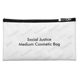 Bolso cosmético medio de la justicia social