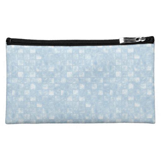Bolso cosmético medio de los cuadrados azules fres