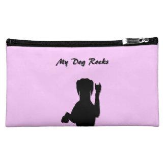Bolso cosmético medio del perro de Rockin