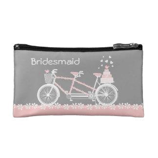 Bolso cosmético personalizado boda en tándem de la