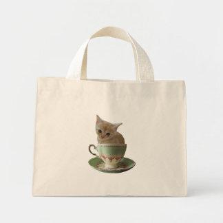 Bolso cremoso del gatito del café bolsa