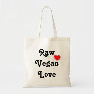 Bolso crudo del amor del vegano bolsas