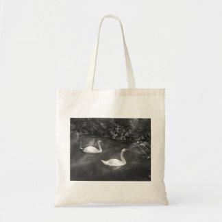 Bolso curioso de los cisnes bolsas lienzo