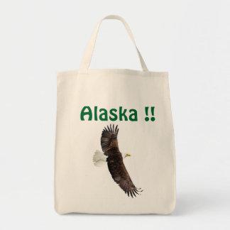 Bolso de Alaska con un águila Bolsa Tela Para La Compra