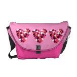 bolso de allsorts del regaliz del corazón del cara bolsa de mensajería