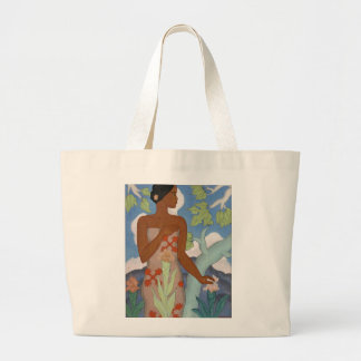 "Bolso de Arman Manookian de la ""mujer hawaiana"" - Bolsa Tela Grande"