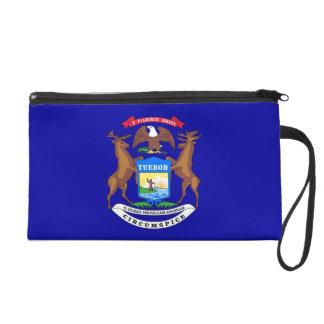 Bolso de Bagettes con la bandera de Michigan, los