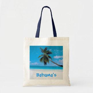 Bolso de Bahamas - playa, arena blanca y palma Bolsa Tela Barata