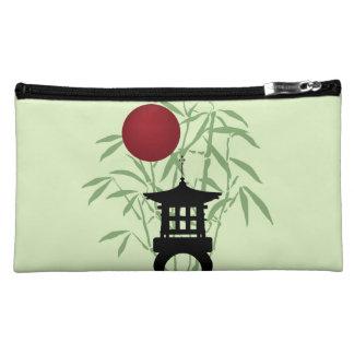 Bolso de bambú del cosmético de la pagoda de la