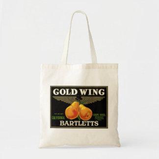 """Bolso de Bartletts del ala del oro"" Bolsa De Mano"