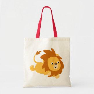 Bolso de brinco del león del dibujo animado lindo bolsa tela barata