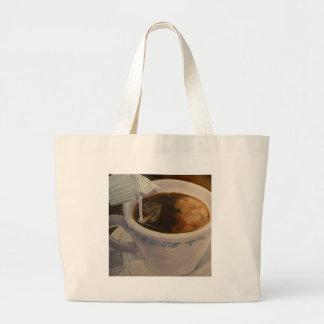 Bolso de café bolsa tela grande