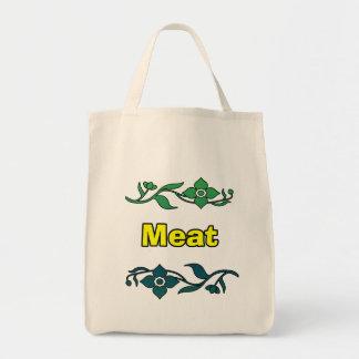 Bolso de carne bolsa tela para la compra