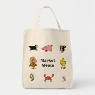 Bolso de carne del mercado/del ultramarinos bolsa tela para la compra