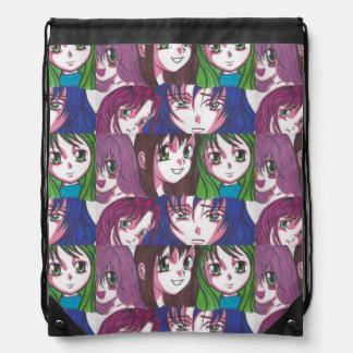 Bolso de cierre de tira de los chicas del animado mochilas