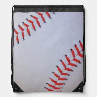 bolso de cierre de tira del béisbol mochilas