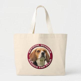 Bolso de club de fans del beagle bolsas lienzo