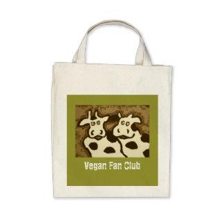 Bolso de club de fans del vegano bolsas de mano