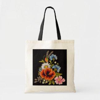 Bolso de colección de la flor bolsa tela barata