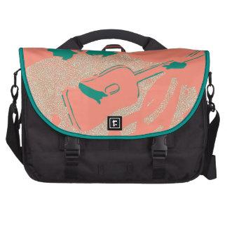 Bolso de color salmón del ordenador portátil del a bolsas para portatil