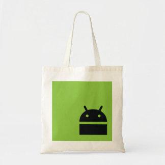 Bolso de compras androide del mercado - logotipo a bolsa tela barata