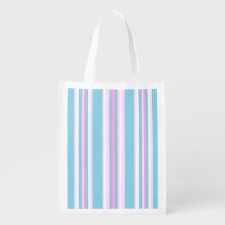 Bolso de compras blanco de la raya de Deckchair de Bolsas Reutilizables