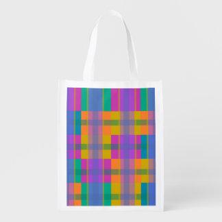 bolso de compras colorido y divertido, bolso de bolsas reutilizables