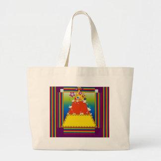 Bolso de compras con diseño de la pepita del bolsa tela grande