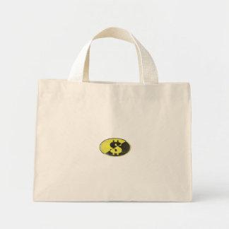 Bolso de compras con la impresión de la libertad d bolsa tela pequeña