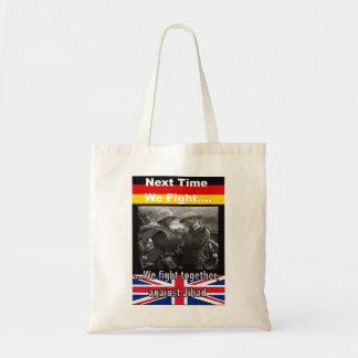 Bolso de compras con los soldados británicos y