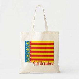 Bolso de compras de la bandera de Valencia Bolsa Lienzo