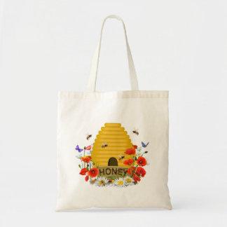 Bolso de compras de la colmena bolsa tela barata