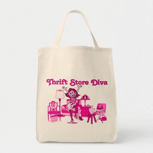 Bolso de compras de la diva de la tienda de descue bolsas