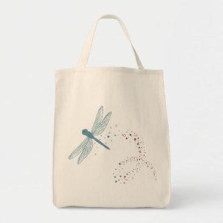 bolso de compras de la libélula bolsa tela para la compra
