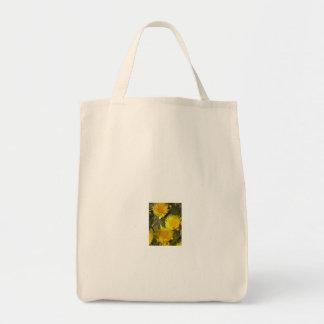 Bolso de compras de la lona de la flor bolsa de mano