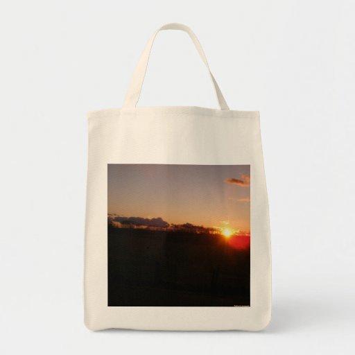 Bolso de compras de la puesta del sol de noviembre bolsa tela para la compra
