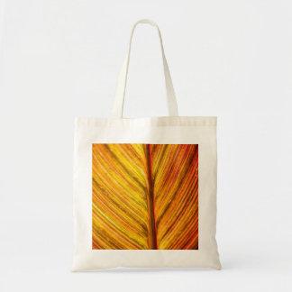 Bolso de compras de la textura de la hoja del marr bolsa de mano