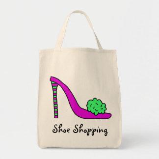 Bolso de compras de tacón alto del zapato del esti bolsa tela para la compra