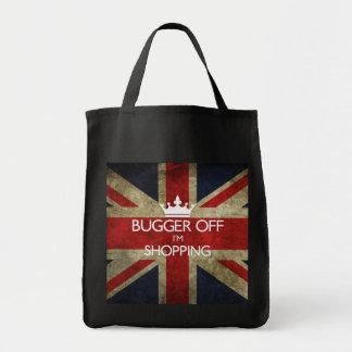 Bolso de compras de Union Jack Bolsa Tela Para La Compra