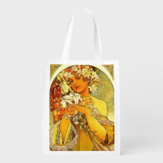 bolso de compras del art déco .reusable bolsas de la compra